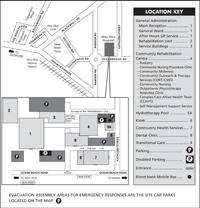 Woy Woy Hospital site map
